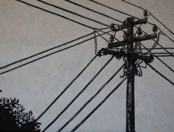 Crossed Line Oil On Canvas 120 X 90cm