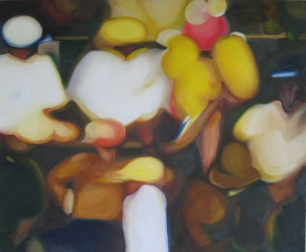 Extra's Oil On Canvas, 50 X 62cm 2002