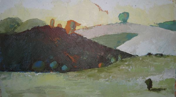Going To...oil On Board 30 X 80 Cm 2004