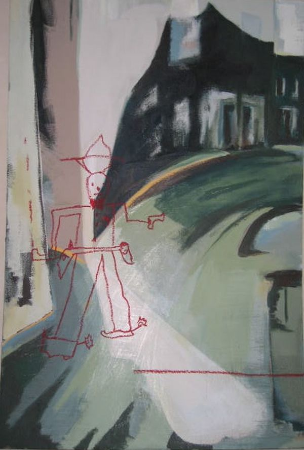 Ike's Decisive Moment Acrylic And Pastel On Board 122x81cm 2003