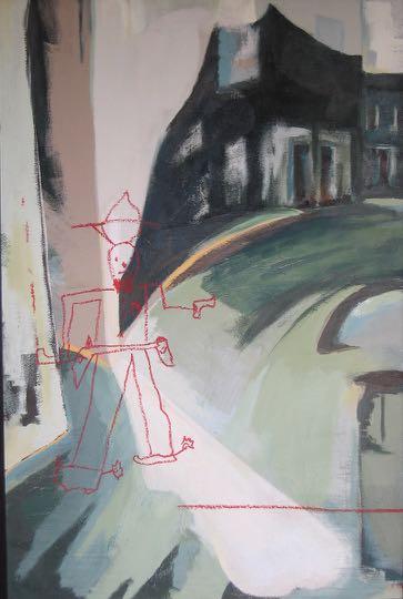 Ike\'s Decisive Moment Acrylic & Pastel On Board 122 X 81cm 2