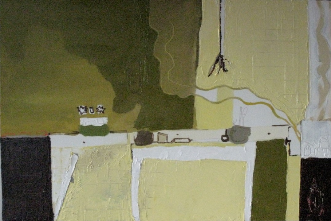 Lola\'s Kitchen Oil And Acrylic 60 X 91 Cm On Canvas 2009