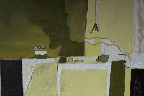 Lolas Kitchen Oil And Acrylic 60 X 91 Cm On Canvas 2009