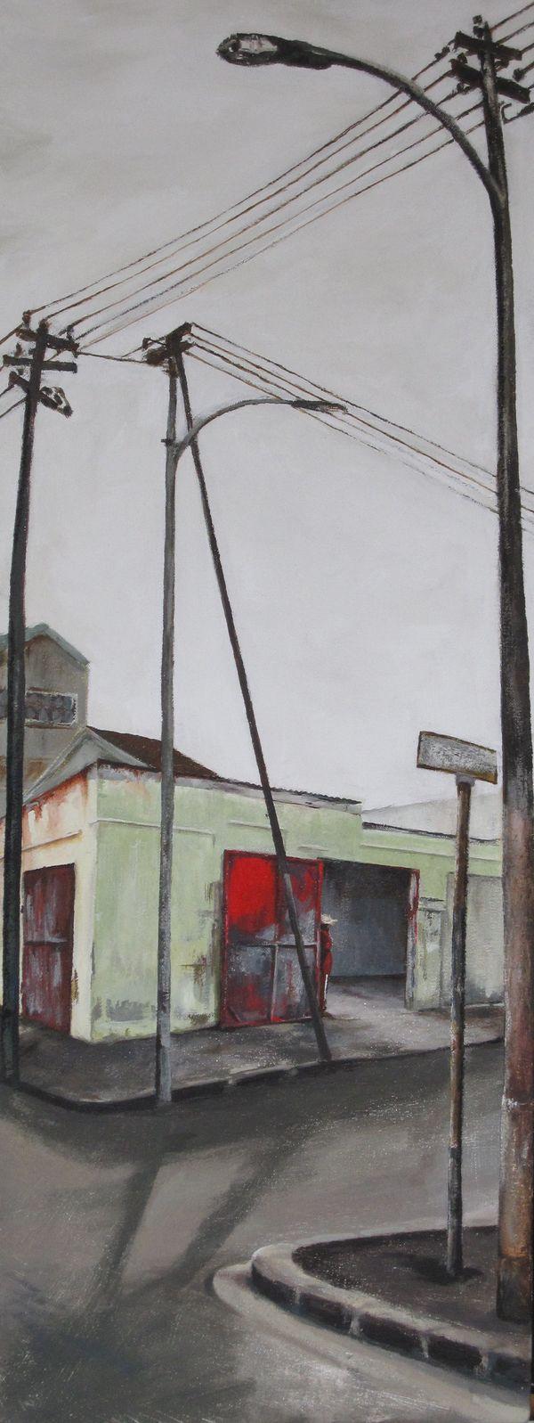Panel Beaters Acrylic On Canvas 80 X 38 Cm 2009