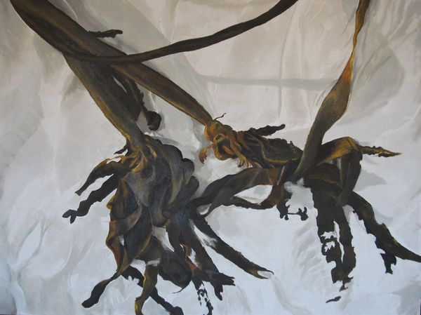 Sea Weed Oil And Other Stuf On Canvas 90 X 120 Cm 2007 R5000