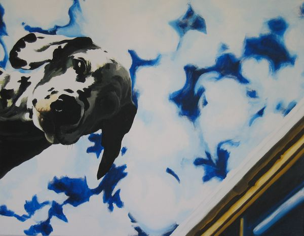 There Is A Dog Acrylic On Canvas 70 X 90cm 2003 R5000