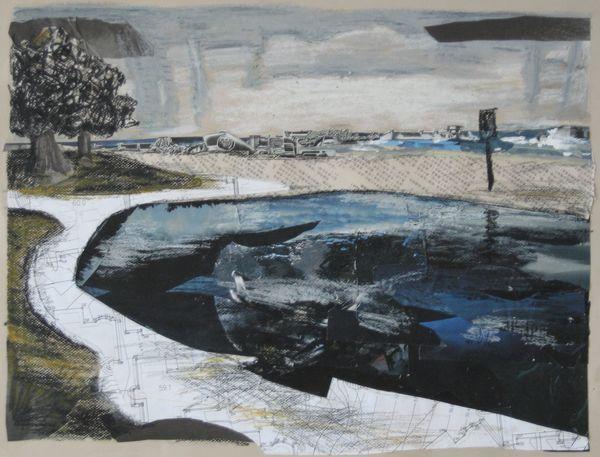 Tidal Pool Mixed Media On Paper 58 X 43 Cm 2009