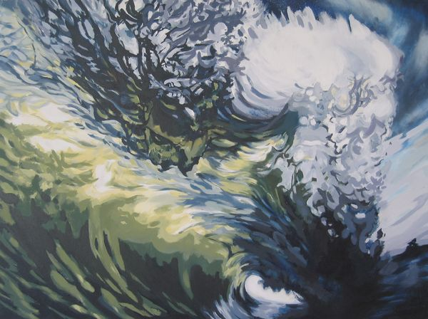 Wave Acrylic On Canvas 70 X 100cm 2007 R5000