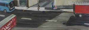 Accross The Road Oil On Canvas25 X 76 Cm 2010 R 1000