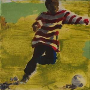 Ball Boy, Arylic On Canvas 15 X 15 Cm 2009 R300