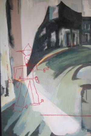Ike\'s Decisive Moment Acrylic & Pastel On Board 122 X 81cm 2