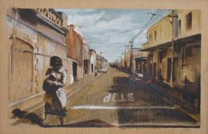 Street Swept Acrylic On Board 29 X 32 Cm 2009