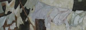 Umoya Uyavuthuza Oil On Board 15 X 40 Cm 2005